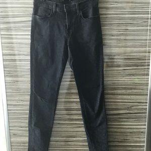 Black leopard jeans